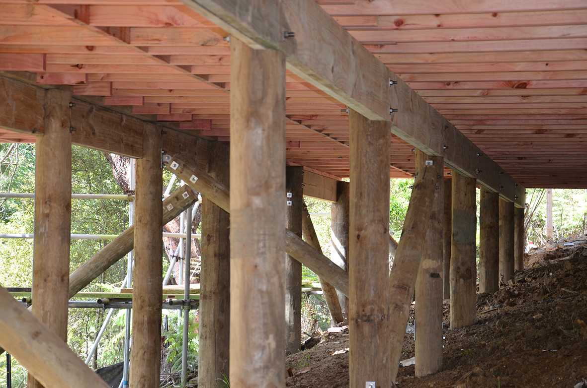 Pinepac roundwood pinepac group for Wood piling foundation
